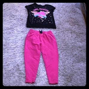 Joggers size 8/10 and T-shirt size L